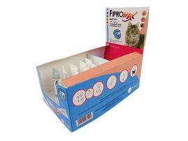 Kedvezményes szállítással :  10db-tól : Fipromax Spot-On rácsepegtető oldat macskáknak A.U.V. 1db ampulla