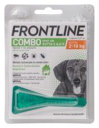 Frontline Combo kutya S 2-10kg.  1db ampulla  A fotó illusztráció