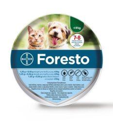 Foresto bolha és kullancs elleni nyakörv 8kg. alatt 38 cm  ( Kutya és cica részére ) Internettes rendelés esetén